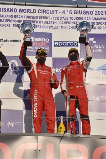 CUHADAROGLU Murat FUMANELLI David, FERRARI 488 EVO #33, Kessel Racing, CAMPIONATO ITALIANO GRAN TURISMO