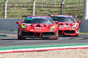 Willem Van Der Vorm Michele Rugolo, Ferrari 488 Challenge Evo GT CUP #382, AF Corse, CAMPIONATO ITALIANO GRAN TURISMO