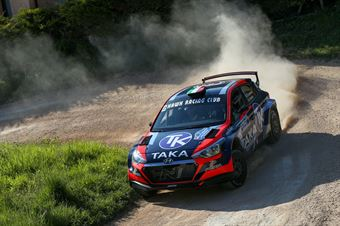 Giacomo Costenaro – Justin Bardin (Hyundai I20 NG R5 #2, Hawk Racing Club s.r.l), CAMPIONATO ITALIANO RALLY TERRA
