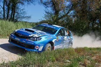 Zelindo Melegari – Manuel Fenoli (Subaru Impreza WRX #55, Movisport ssdrl), CAMPIONATO ITALIANO RALLY TERRA