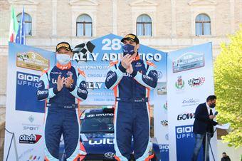 1° Assoluti Umberto Scandola – Guido D'Amore (Hyundai I20 NG R5 #5), CAMPIONATO ITALIANO RALLY TERRA