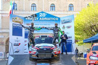 2°assoluti Edoardo Bresolin – Rudy Pollet (Skoda Fabia R5 Evo #14, Hawk Racing Club s.r.l), CAMPIONATO ITALIANO RALLY TERRA