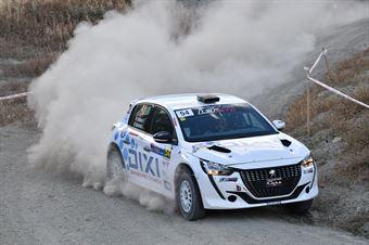 Fabio Battilani, Jasmine Manfredi, Peugeot 208 R2C #54, G.R Motorspor, CAMPIONATO ITALIANO RALLY TERRA