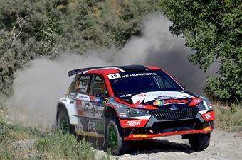Edoardo Bresolin, Rudy Pollet, Skoda Fabia Evo R5 #15, Hawk Racing Club, CAMPIONATO ITALIANO RALLY TERRA