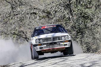 Paolo Maria Baggio Flavio Zanella, Lancia Delta Int 16V #206, Team Bassano, CAMPIONATO ITALIANO RALLY TERRA STORICO