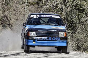 Corrado Costa Domenico Mularoni, Opel Corsa GSI #219, Scuderia San Marino, CAMPIONATO ITALIANO RALLY TERRA STORICO