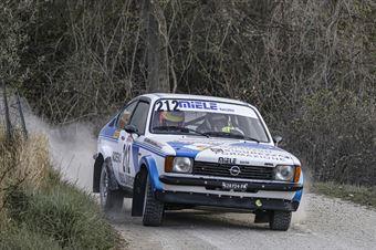 Marcello Rocchieri Luca Rocchieri, Opel Kadett #212, Sport Management, CAMPIONATO ITALIANO RALLY TERRA STORICO
