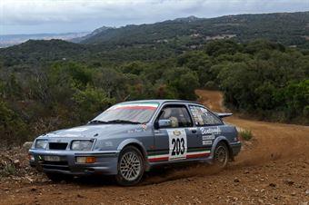 Bruno Bentivogli Salvatore Musselli, Ford Sierra Cosworth #203, CAMPIONATO ITALIANO RALLY TERRA STORICO