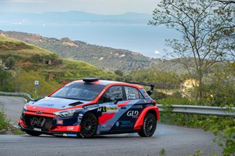 Luca Rossetti, Manuel Fenoli(Hyundai i20 #4), CAMPIONATO ITALIANO WRC