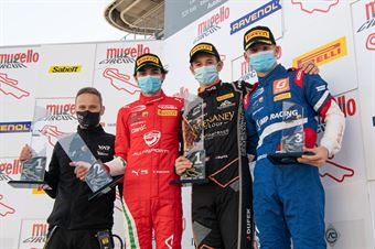 Podium absolute race 2, ITALIAN F.4 CHAMPIONSHIP POWERED BY ABARTH